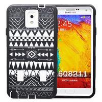 Free Shipping Samsung Galaxy Note 3 N9000 AztecTribal Pattern Case Tribal  Hybrid Case