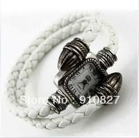 Wholesale Snake Style fashion Roma Vintage Women leather bracelet watch.TOP quality.Free shipping 300pcs