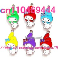 My Melody Diy pendants Jewelry accessories  Charms Free shipping 100 pcs