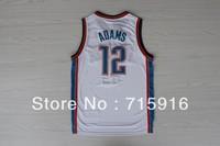 # 12 Steven ADAMS new fabrics  white basketball jersey