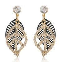 Min.order is $15 (mix order) fashion Tree leaf Earring R4021