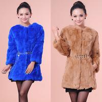 2014 autumn and winter fur rex rabbit hair female long design women's female outerwear fashion