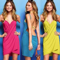 Personalized fashion spaghetti strap racerback sexy one-piece dress beach dress  from india