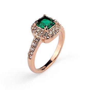 Frizzante/nuovo arrivo min. Ordine è $ 15/di trasporto libero/all'ingrosso/di alta qualità nuovo verde zircone anello placcato in oro