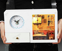 Star Story Series!Summer Afternoon!Clock!Creative DIY!night   light!Gift for lovers,Birthday!Manual assembly!assembling model!