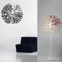 Fashion coral acrylic frame pendant light modern brief study light