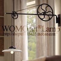 new arrival loft rh steampunk vintage american   gearshifts wall lamp free shipping
