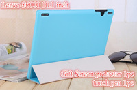 Lenovo S6000 Leather Case,  Back Skin case For Lenovo S6000 Slim Leather Case ,4 Color,Gift Screen Protectors+touch pen
