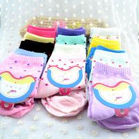 Free Shipping lovely lot color dot socks winter warm women's sock