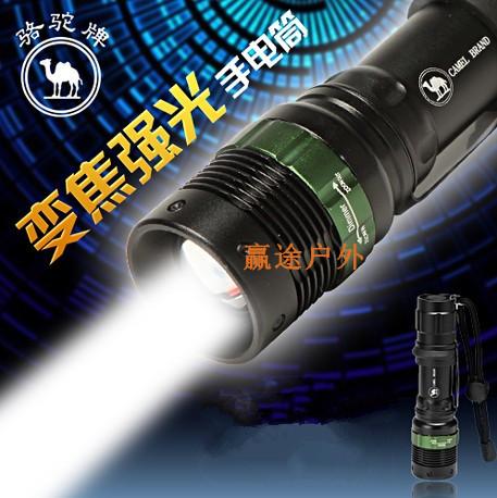 Outdoor zoom flashlight tactical flashlight strong light charge mini led lighting flashlight stick(China (Mainland))