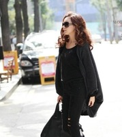 2013 New Women Shawl Top Tees Summer Smock Block  Muslin Cardigan Long Sleeve Wrap Cape Amice Free Shipping