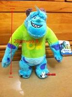 28cm high monster university inc Wazowski mike friend sullivan sulley Wazowskidoll plush filler children kid toys Christmas gift