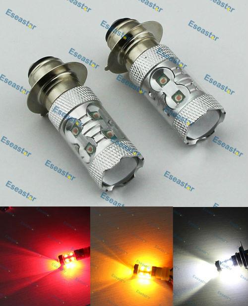 2pcs/lot SUPER BRIGHTNESS high power 60W strong light and dim light ,H6W LED BULB,H6M LED CAR LIGHT,H6M LED MOTO LIGHT(China (Mainland))