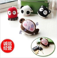 Handmade cartoon panda octopus plush doll key wallet keychain