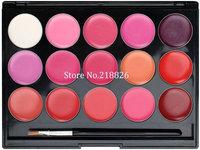 Hot sale Popular 15 Colours Lip stick Lip gloss Set Makeup cosmetics palette