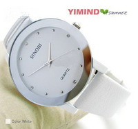 2013 new fashion Lady's Sinobi watch luxury WoMen's Quartz Watches Wristwatch white leather belt
