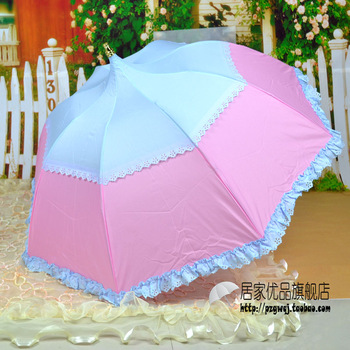 Princess folding apollo umbrella sun protection umbrella lace umbrella