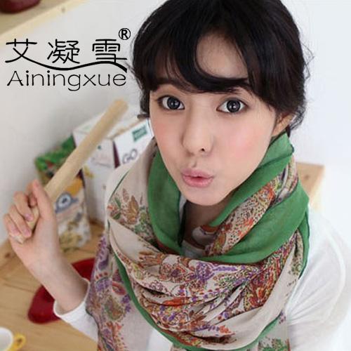 Free shipping!!! 2013 Fashion fluid long scarf cashew flowers large cape women's cotton muffler silk scarf(China (Mainland))