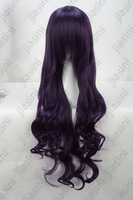 Wholesale Imitation human made high Mother Style Long curly High quality Anime Cosplay wig,Purple,Brand Quality Assurance