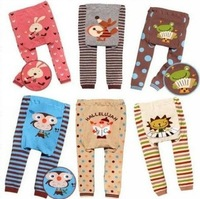 HOT Sale High Quality Cotton Kind Of Blended Cartoon Animals Baby PP Pants Infants Unisex Baby Boy Girl Wear 6 pcs/lot