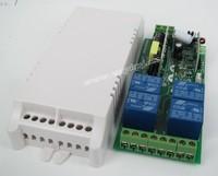 AC 85V 100V 220V 250V 110V 4CH RF Power Switch RF Wireless Remote Control Switch System Momentary Latched Receiver& 4Transmitter