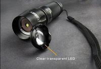 FREE SHIPPING HIGH POWER LED FLASHLIGHT,AMERICAN IMPORTED XML T6 860LUMENS,LENS ZOOM ,FIVE MODES