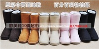 Free shipping Winter Thicken Short Plush Snow Boots Shoes For Women Black Coffee Gray Brown Pink