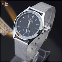 Free shipping Vogue Hour Marks Round Dial Men Analog Watch High Quality Stainless Steel Fashion Watch Drop Shipping