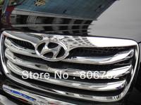 Chrome Front Grill Around Trim 4pcs for Hyundai Santa Fe 2010 2011 2012