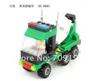 Enlighten Child DIY Educational Assembling model toys Building Car Compatible With Ligo Assembles Particles Block Toys