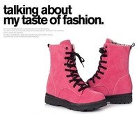 New arrival fashion winter boots warm flat heels solid women boots ankle boots wholesaledesigner boots XLU10603