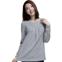 2014 maternity clothing autumn top clothes long-sleeve T-shirt loose primer coat Pregnant women bottoming shirt free shipping