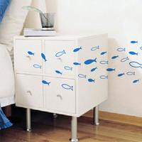 Dream membrane sticker wall stickers 58 fish xm487