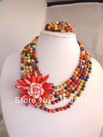 M-1566 wrap flowerJewelry Set Necklace for wedding