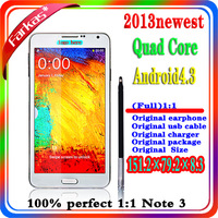 Full 1:1 Note 3 MTK6515 N9000 Android Phone 1.6Ghz ROM 8GB 5MP 5.5Inch 3G WIFI With Original Box