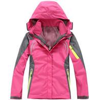 hot sale Female Outdoor Double Layer 2in1 Waterproof Climbing Skiing Jackets Windbreaker Women Warm Waterproof Winderproof Coat