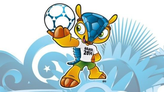 Free Shipping 2014 Brazil world cup Mascot Fuleco usb flash drive,