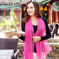 2013 autumn and winter silk scarf windproof cape chiffon women's faux georgette silk long scarf