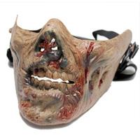M05 Zombie Skeleton Skull Bone Half Face Mask for   survival war game Movie Prop the walking Dead Cosplay