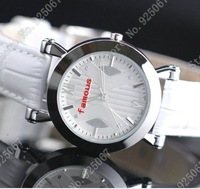 2013 fashion designer leather band round waterproof unisex watch brand quartz wrist watch men wristwatches for women,