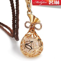 Jiqingyouyu crystal quality sweater necklace female long vintage design fashion accessories
