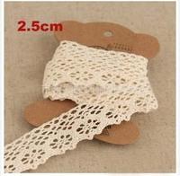 2.5cm Natural color flowerlet lace,embelishments for cloth,trim lace for DIY,garment accessories(ss-1840)