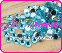1.5mm Aquamarine Color 50,000pcs Flatback Acrylic Rhinestones ,Acrylic Stone Beads for Nail Art Rhinestone Round