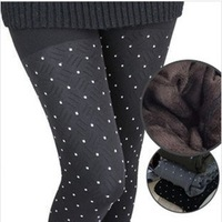 Free shipping Leggings new winter plaid double thicken warm pants /leggings D298.