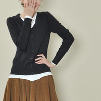 2013 autumn female cardigan sweater slim elegant ol short jacket black grey 1081