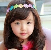 10pcs/lot baby girl sunflower headband kids fashion hairbands children sweet hair accessories cute headwear