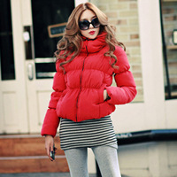 2013 women's winter design short cotton-padded jacket thickening puff sleeve small cotton-padded jacket wadded jacket female