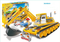 Banbao Engineer Excavator 8519 Building Block Sets 220pcs Educational Jigsaw DIY Construction Bricks Toys for Children