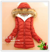 Princess green tea 2013 new arrival super fashion slim medium-long women's down cotton-padded jacket cotton-padded jacket
