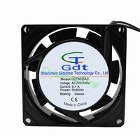Wholesale 8025 AC FAN  220V 240V 8CM 80MM  80*80x25mm Cooling Cooler Fan 15pcs/lot 2wire